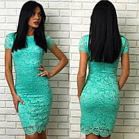 Стильное женское летнее гипюровое платье  + цвета