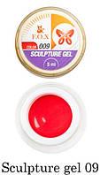 Гель-пластилин F.O.X Sculpture gel № 09 (красный) 5 мл