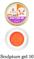 Гель-пластилин F.O.X Sculpture gel №10 (оранжевый) 5 мл