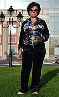 """Велюровый женский спортивный костюм """"EZE"""",  разм 52,54,56,58,60"""