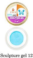 Гель-пластилин F.O.X Sculpture gel №12 (голубой) 5 мл
