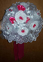 Свадебный букет-дублёр невесты (малиновый)