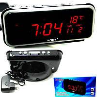 Электронные сетевые часы LED DIGITAL CLOCK