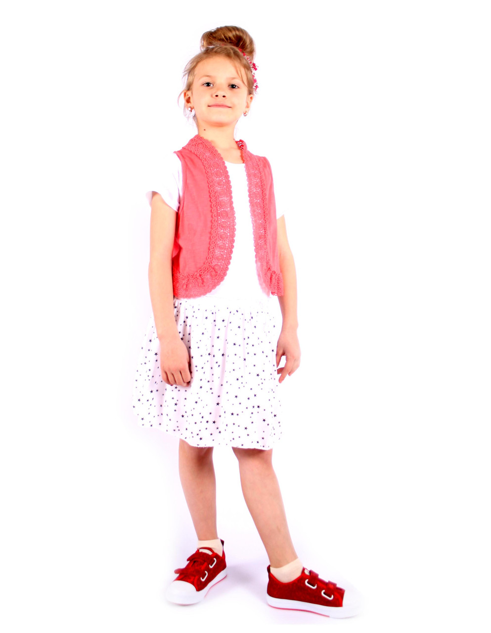 Стильний комплект: сукня + жилетка на дівчинку Італія 4-14 розмір