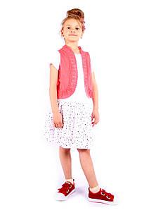 Стильный комплект: платье + жилетка на девочку Италия 4-14 размер