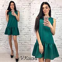 Платье из габардина Н 199
