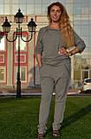 """Женский спортивный летний костюм """"Megi"""" из трикотажа (Турция); разм 44, 46,48,50, 2 цвета, фото 3"""