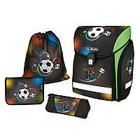 50007790 Ранец школьный укомплектованный Herlitz NEW MIDI PLUS Soccer
