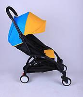 Прогулочная коляска YOYA Желто-синяя