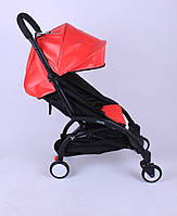 Прогулочная коляска YOYA Красная кожа