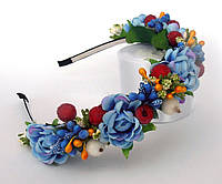 1369-ободок с цветами