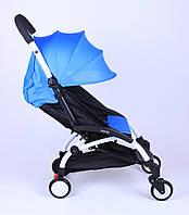 Прогулочная коляска YOYA Голубая с увеличенным капором
