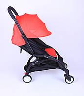 Прогулочная коляска YOYA Красная с увеличенным капором