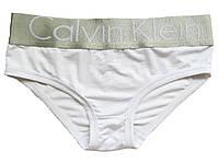 Женские трусы слипы (плавки) Calvin Klein Steel белые