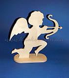 Амур, Купідон Ангел на підставці №1 заготівля для декупажу та декору, фото 3
