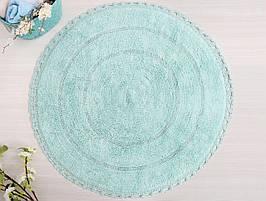 Круглый коврик в ванную 80х80 см Irya GENNY ментол SV45