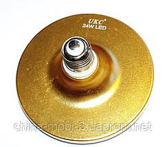 Светодиодная лампа-светильник LED UKC 220V 24W E27 плоская, 1202, фото 3