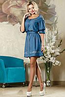 Коттоновое летнее легкое платье