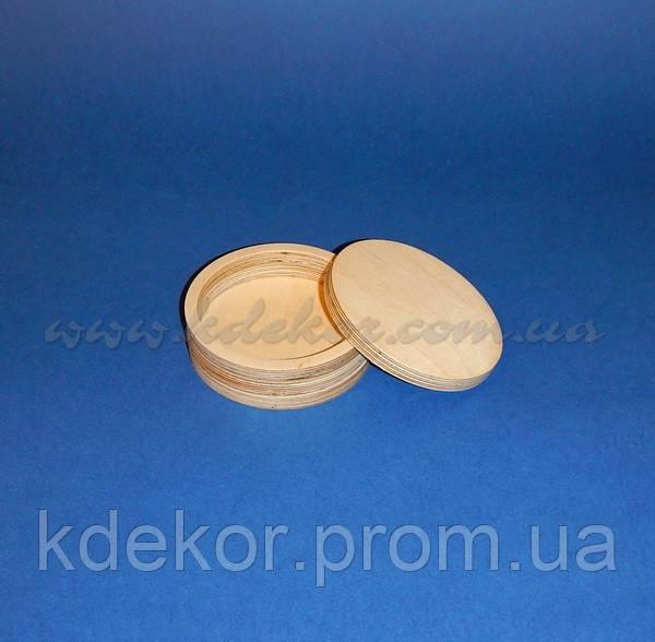 Шкатулка круглая заготовка для декупажа и декора