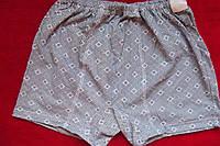 Детские трусы мальчиковые шортами рисунок пестрый квадрат размер 42