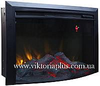 Электрическая топка (электрокамин) Bonfire EL1615В закругленное стекло
