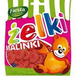 Жевательные конфеты Zelki malinki 80г