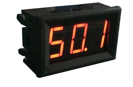 Амперметр 27D DC до 50А с шунтом (красные цифры)