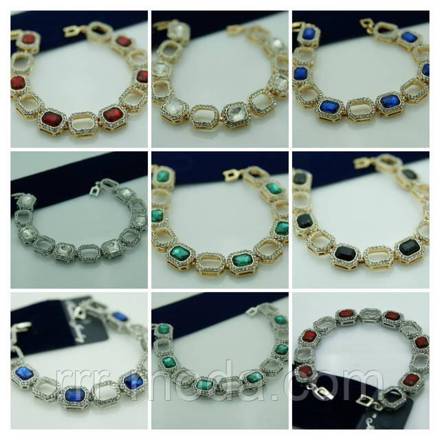 Женские браслеты из кристаллов.