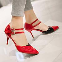Лаковые туфли Pleaser RedBlack