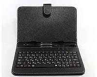 """Чехол для планшета 7"""" с клавиатурой черный"""