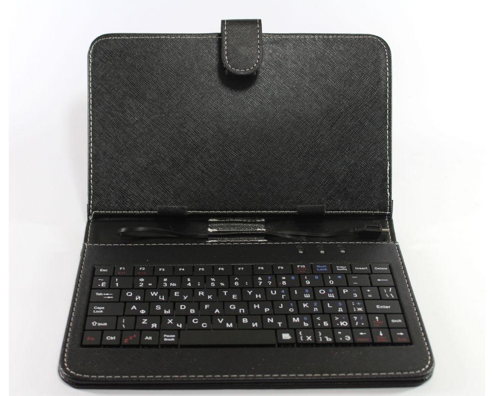 """Чехол для планшета 8"""" с клавиатурой черный"""