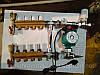 Коллектор с расходомерами на 6 выходов в сборе для теплого пола, фото 3
