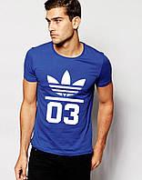 Футболка Adidas Original 03 синего цвета