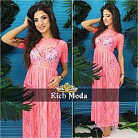 Женское гипюровое пляжное платье (расцветки)