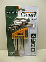 Набор ключей TORX 9 предметов на блистере GRAD