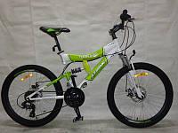 Горный подростковый велосипед 24 дюйма Tornado 149-FR зеленый,1 скорость