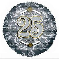 """Шар """"С годовщиной 25"""""""