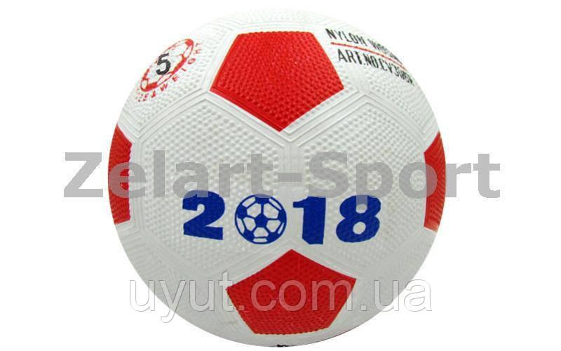 Мяч резиновый Футбольный №5 WORD CUP 2018 (резина, вес-300г, цвета в ассортименте)