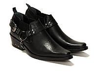 Туфли казаки черные Etor