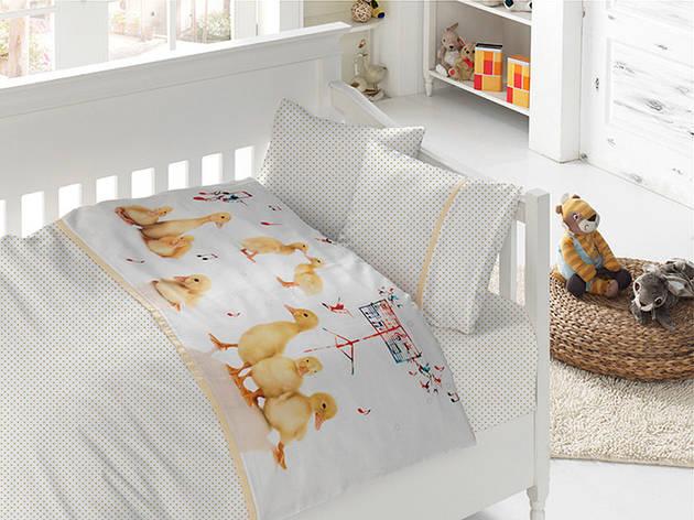 Белье постельное для новорожденных First Choice 3D BABY Quack, фото 2