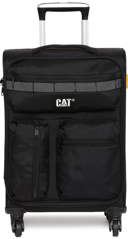 Надежный 4-х колесный чемодан 38,5 л CAT Cube Combat Visiflash 83402;01 черный
