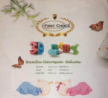 Белье постельное для новорожденных First Choice 3D BABY Sandy, фото 2