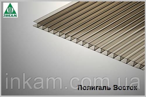 Сотовый поликарбонат Polygal (Россия) 4мм бронза - ИНКАМ ПКФ ООО в Киеве