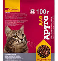 Сухой корм Для друга для кошек (говядина) 100г O.L.Kar