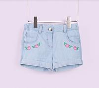 Джинсовые шорты с вышивкой на девочку