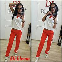 Женский модный костюм: футболка и брюки (3 цвета), фото 1