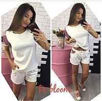 Женский модный костюм: футболка и шорты (4 цвета), фото 1