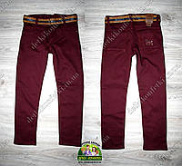 Бордовые брюки-джинсы для мальчика