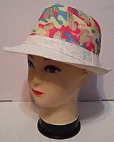 Соломенная женская шляпа с камуфлированным принтом