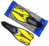 Ласты Sprinter Zelart Dorfin PL-436 синие, желтые, красные, серые